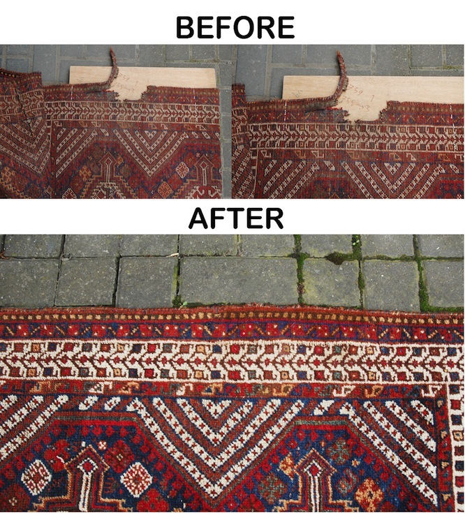 oriental antique rug restoration