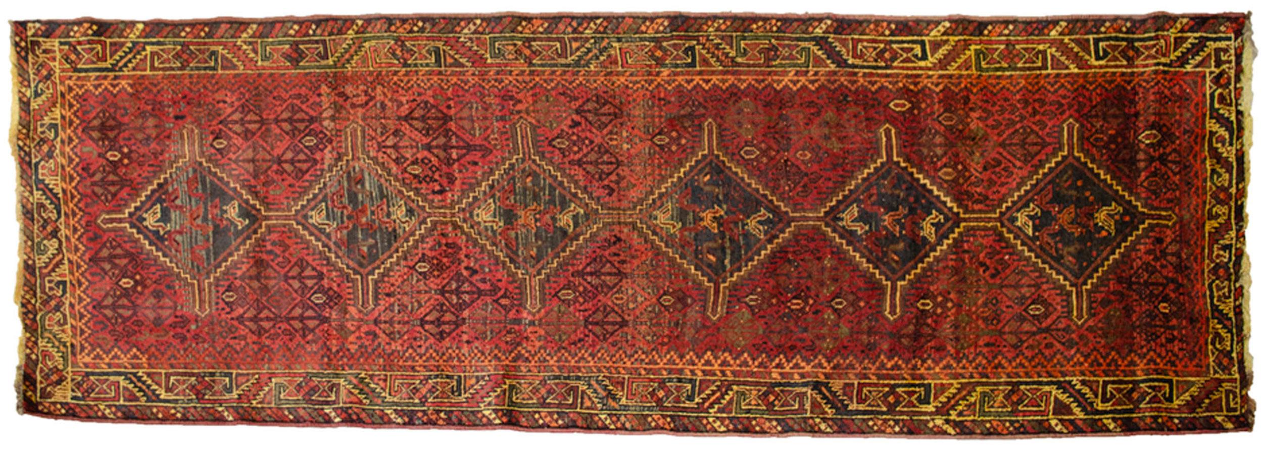 Vintage Shiraz Runner 335x110cm