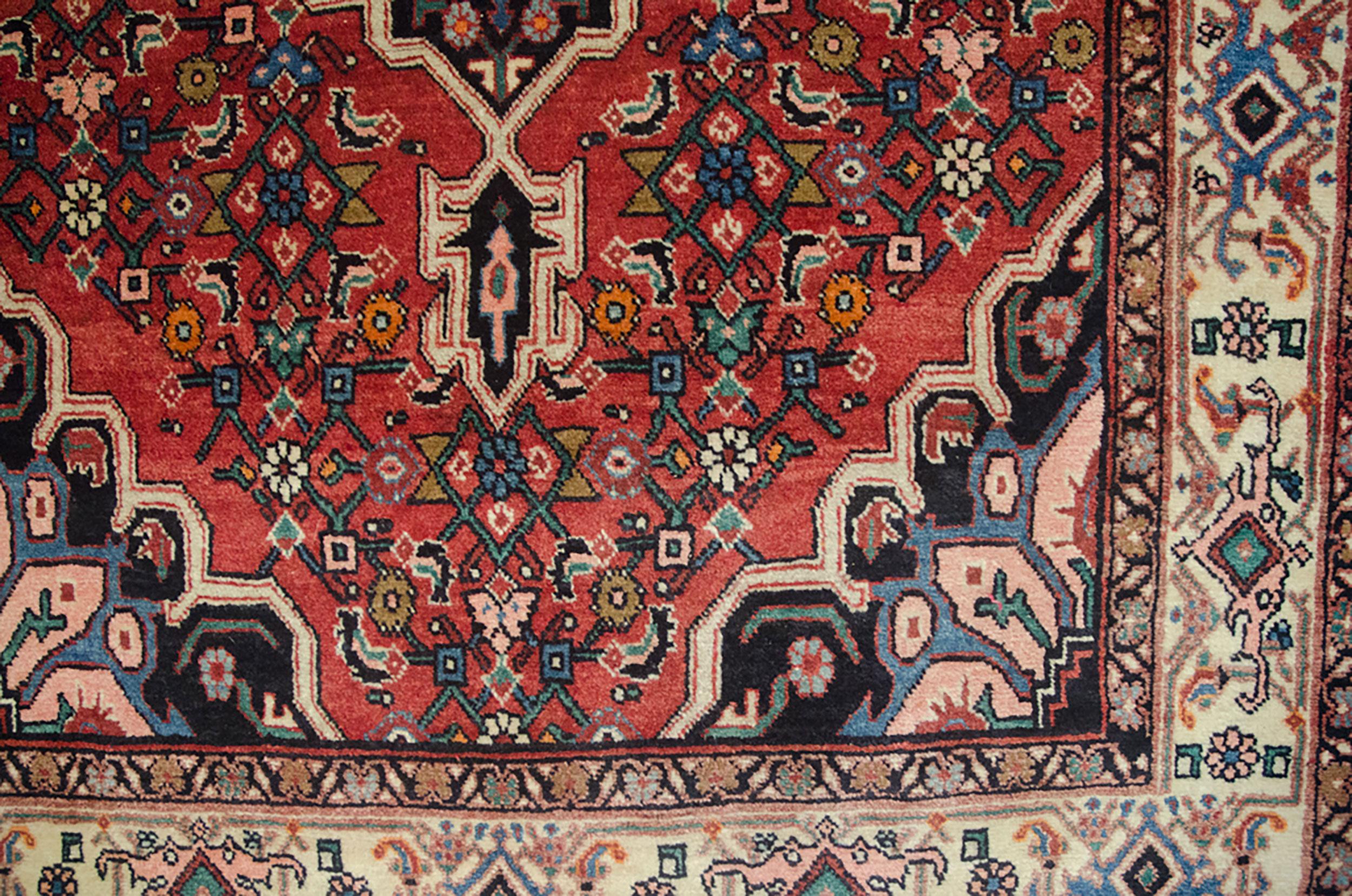 Vintage Bijar Rug 162x107cm