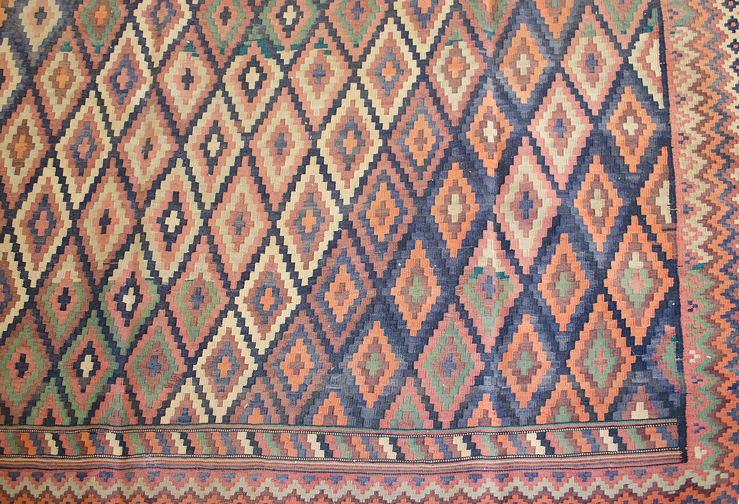 Vintage Afshar Kilim Carpet 410x303cm