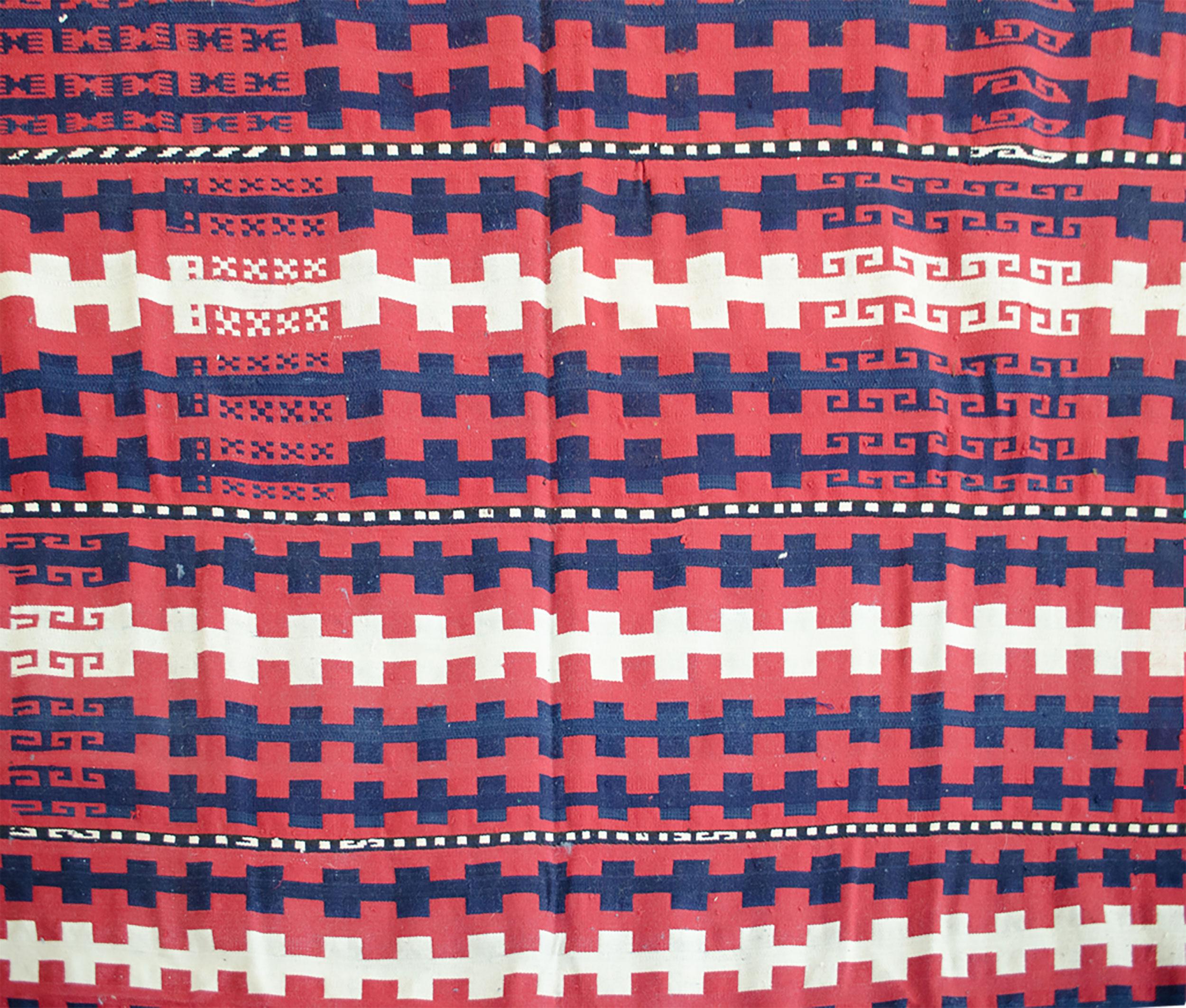 Antique Uzbak Flatweave Carpet 380x194cm