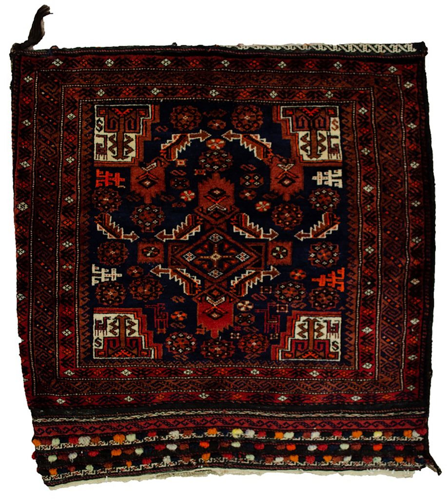 Vintage Baluch Tribal Bag 82x82cm