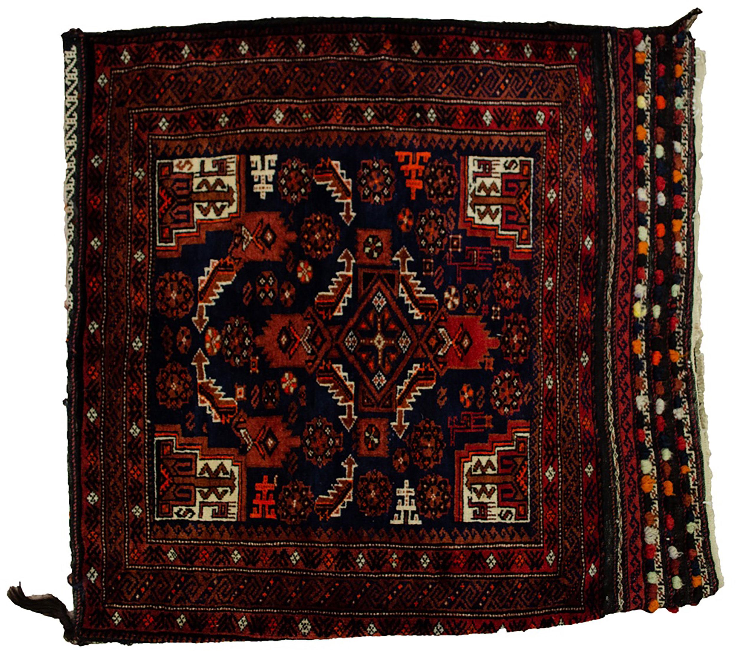 Vintage Baluch Tribal Bag 82x82cm