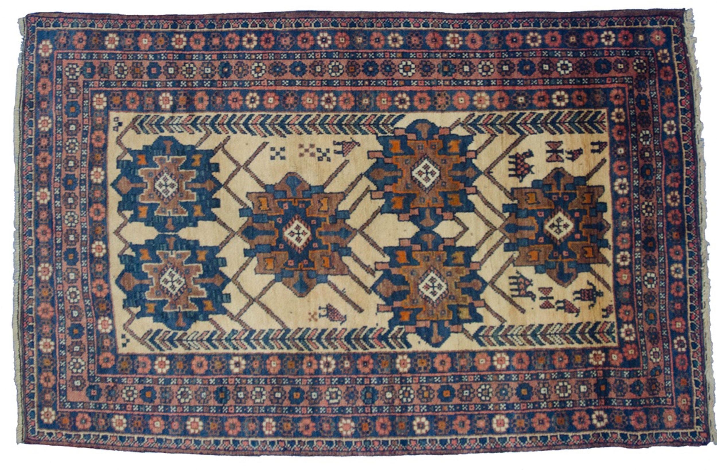 Vintage Afshar Rug 158x99cm