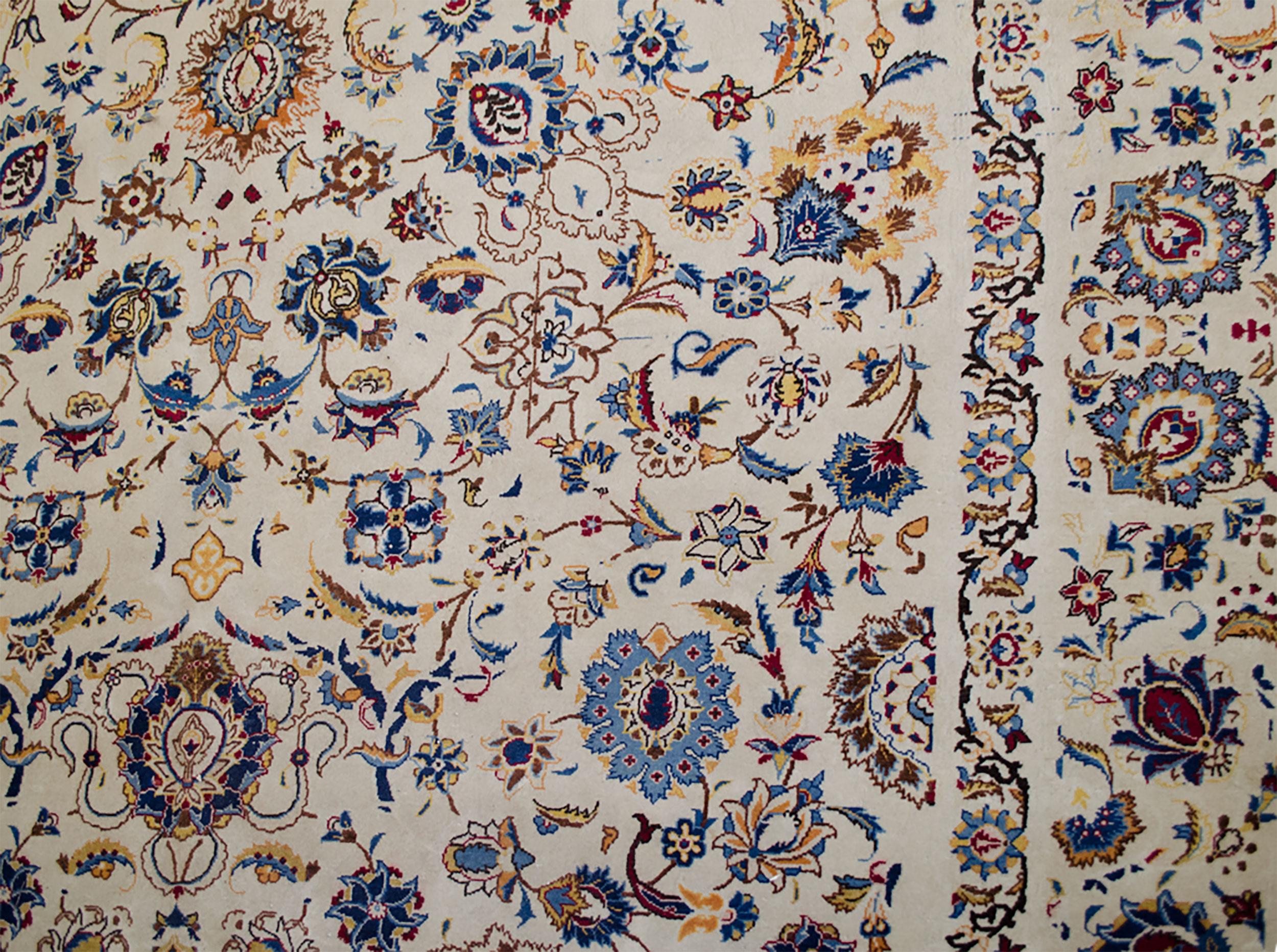 Vintage Kashan Carpet 385x263cm