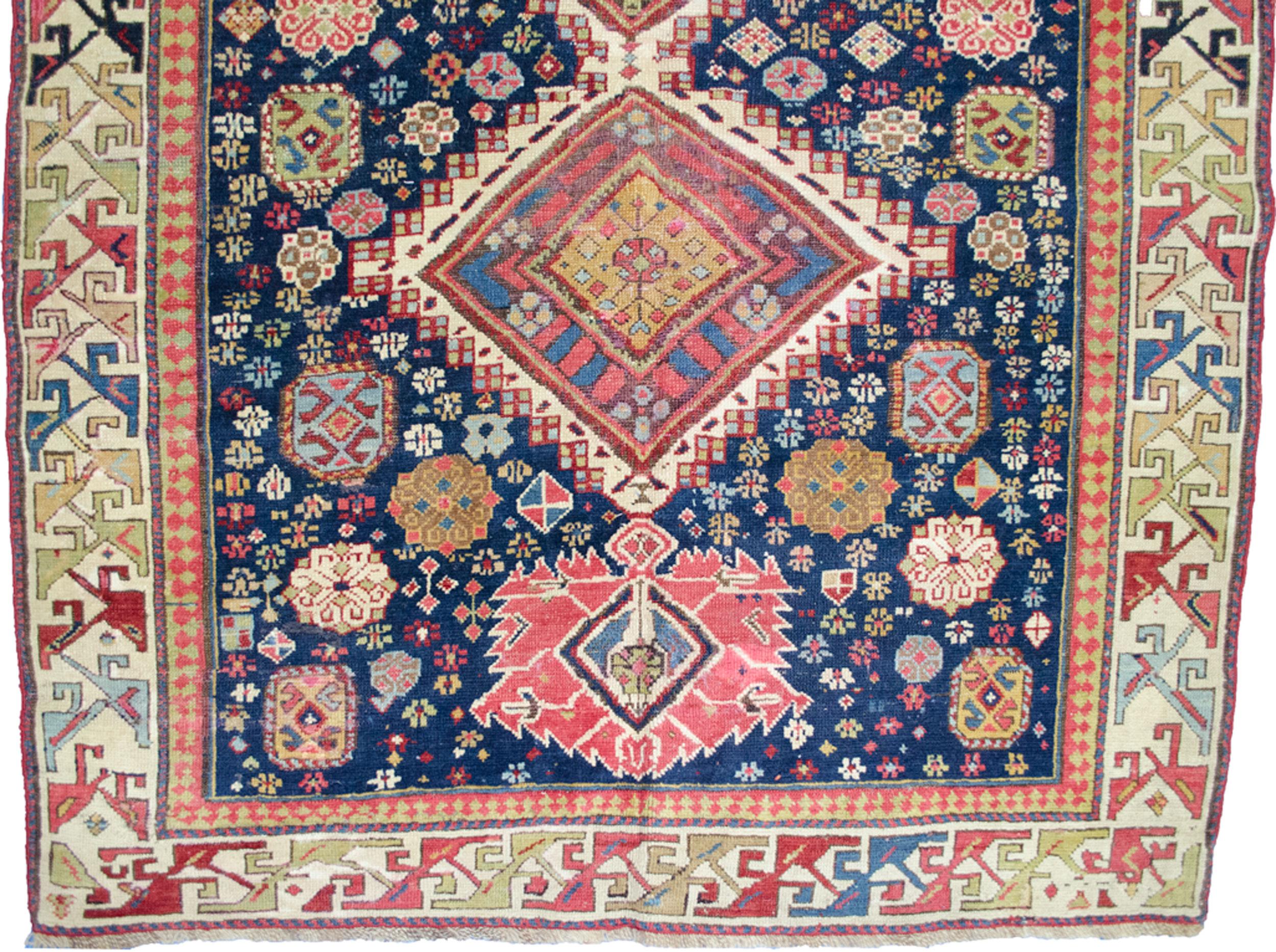 Antique Kazak Rug 250x117cm