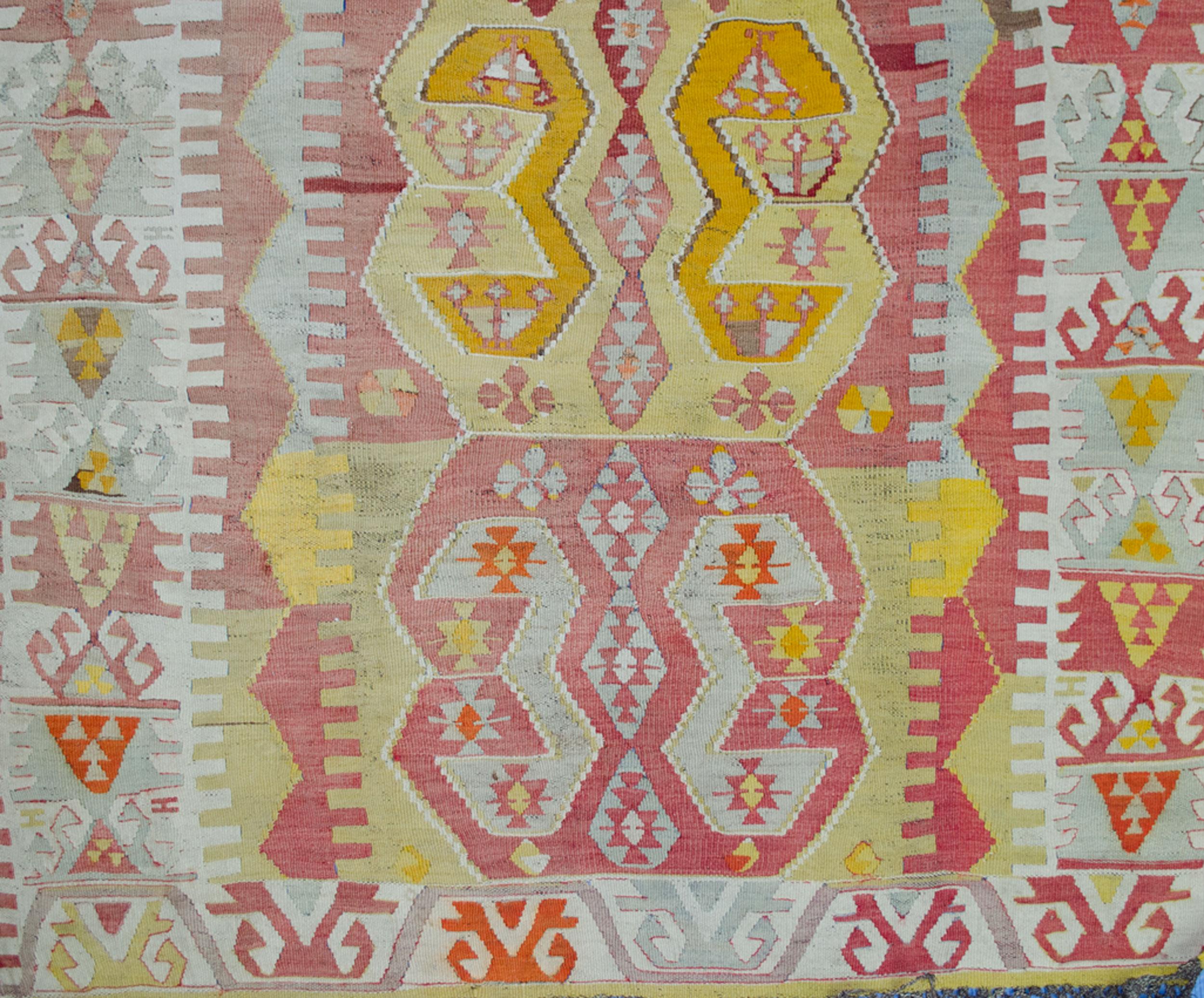 Antique Anatolian Kilim Rug 239x114cm