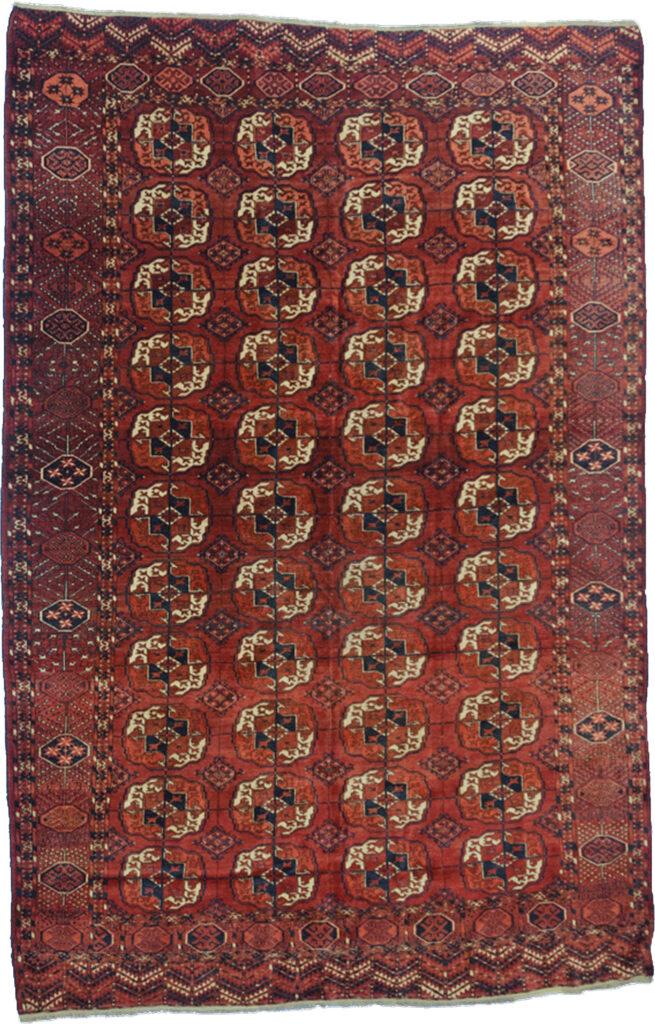 Antique Turkmen Carpet 297x207cm