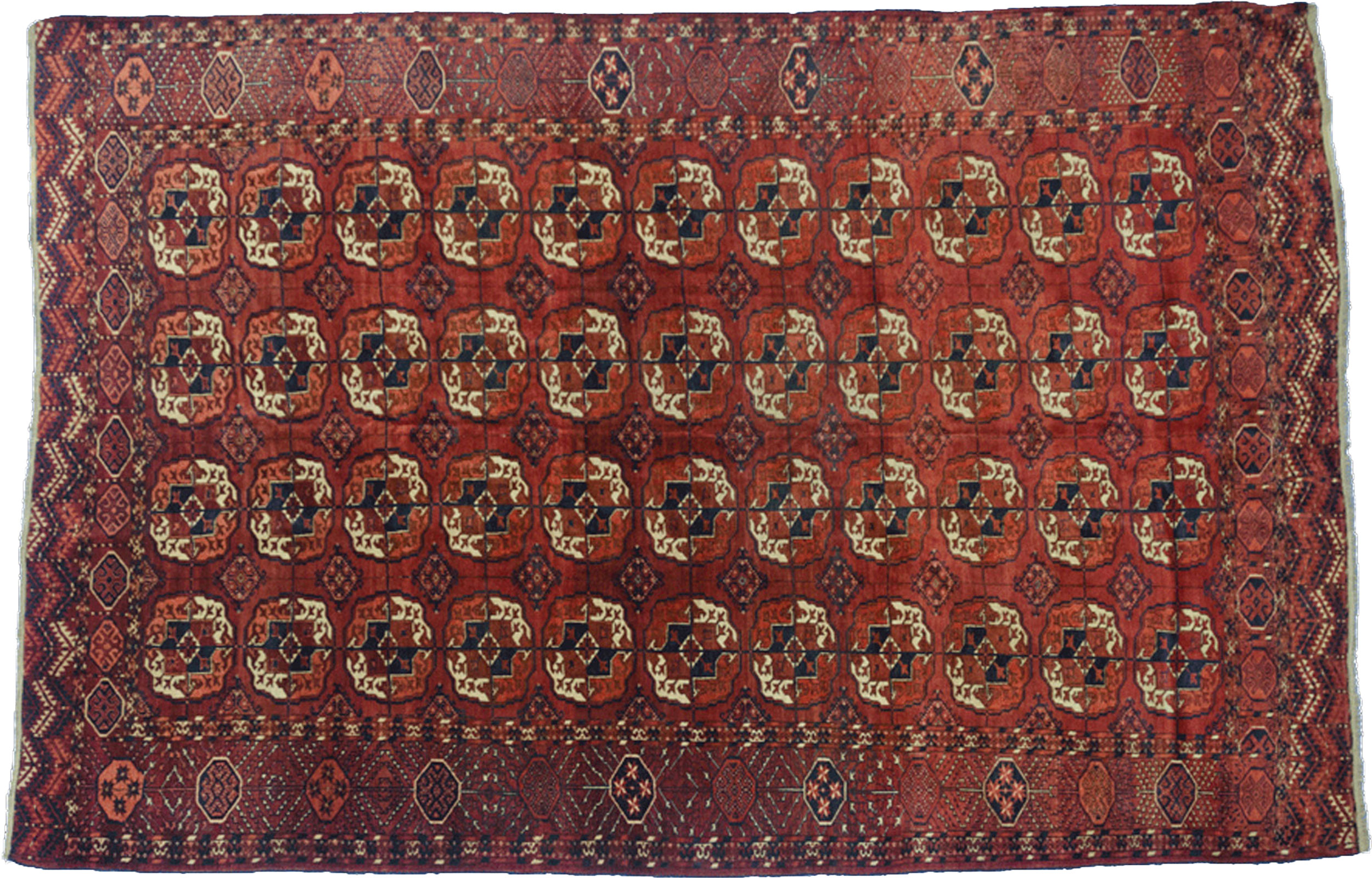 Antique Turkmen Carpet 297x207cm