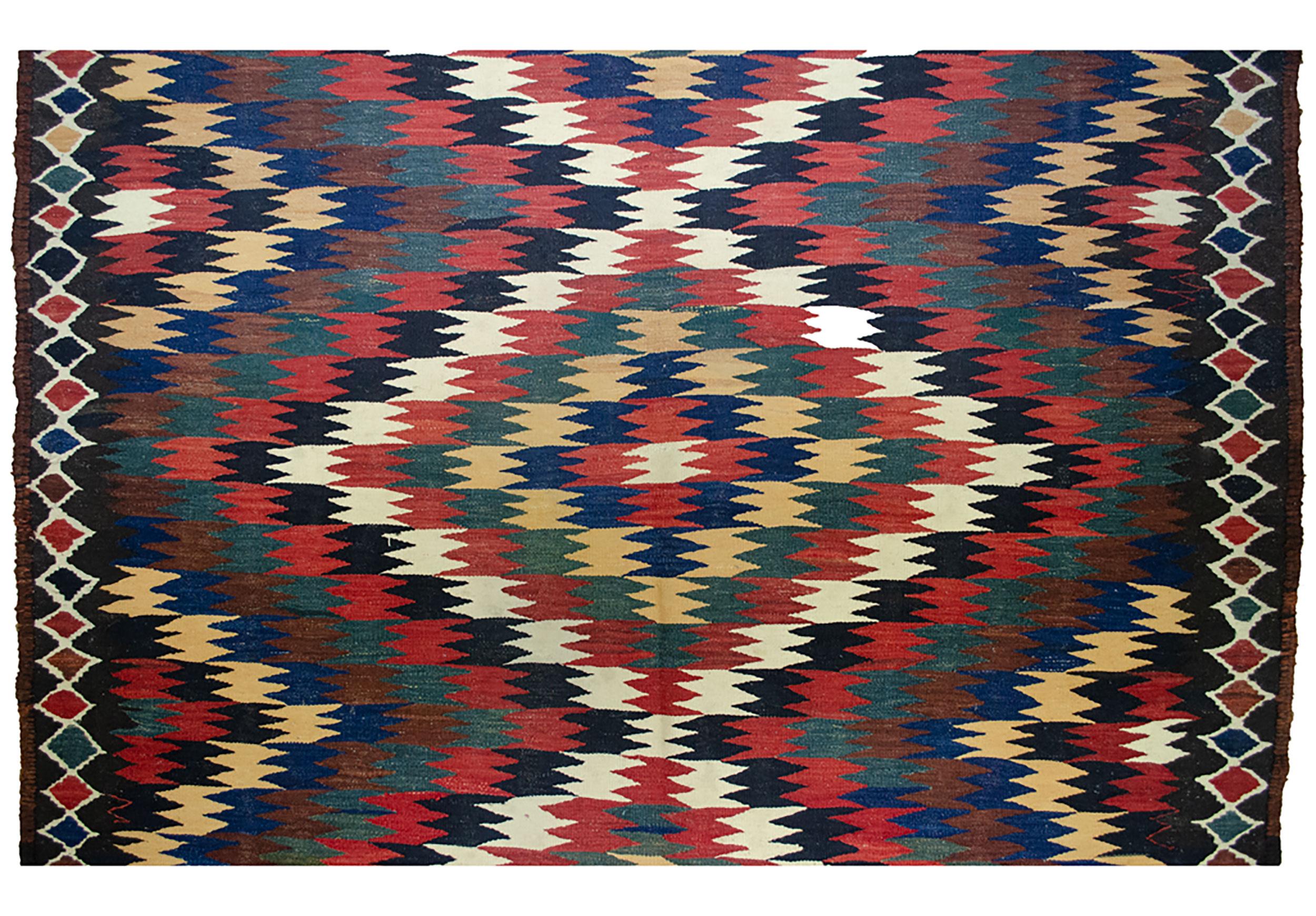 Antique Varamin Kilim Rug 274x160cm