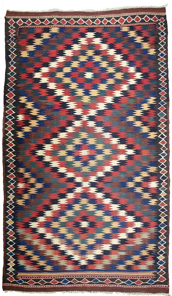 Antique Varamin Kilim Rug 274x160cm