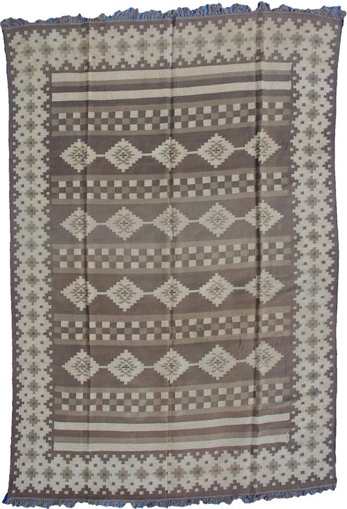 Vintage Afghan Kilim Carpet 409x304cm