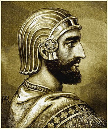 Artistic portrait of Cyrus the Great