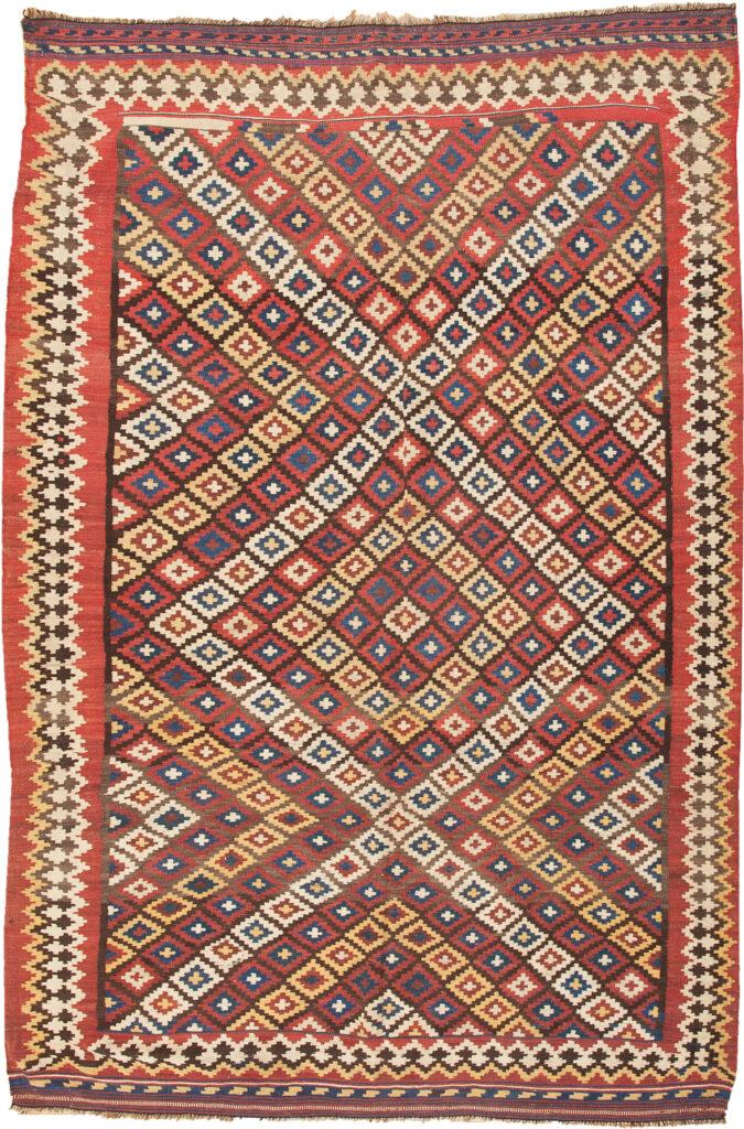 Antique Bakhtiar Kilim Rug 264x169cm