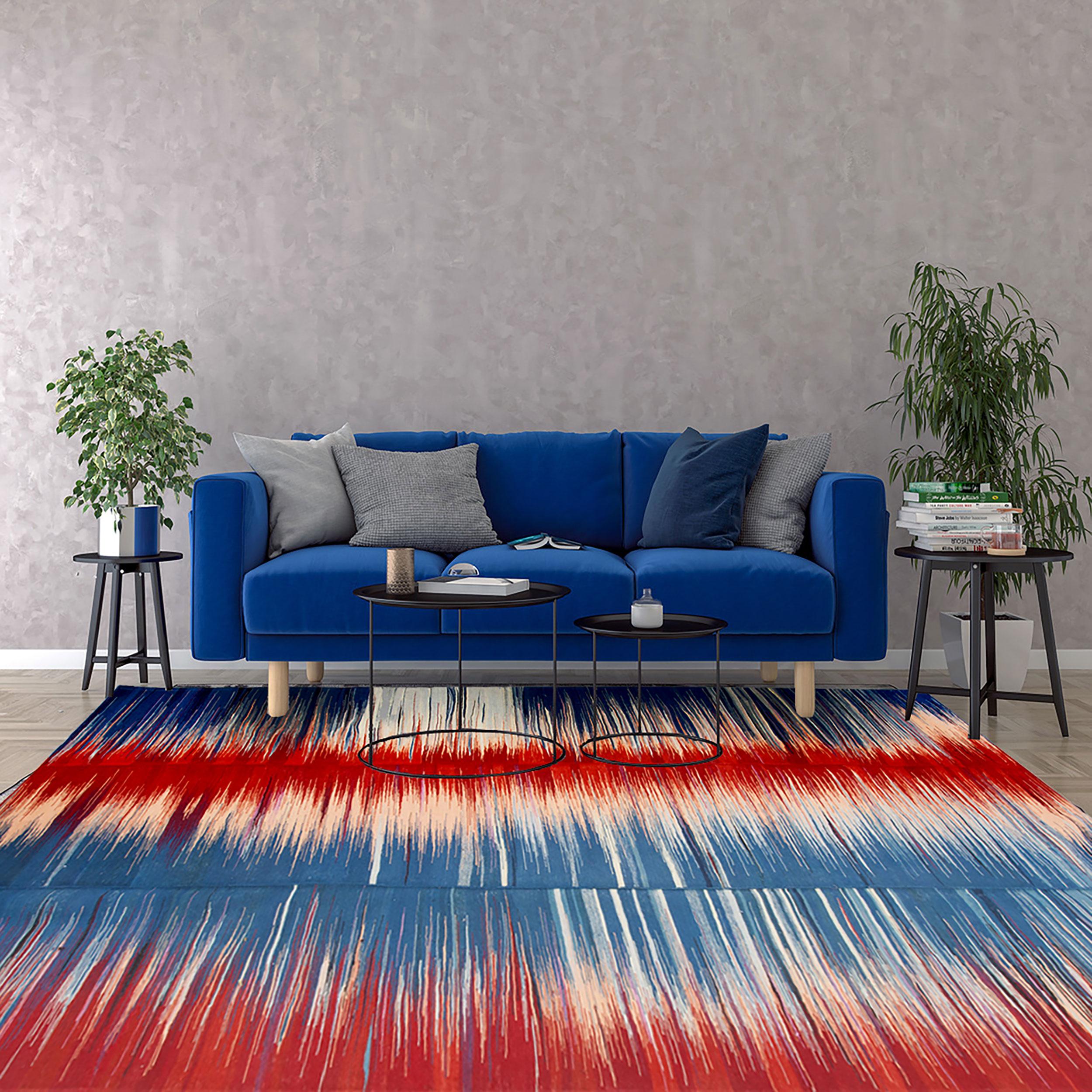 Modern Persian Kilim Carpet 297x195cm