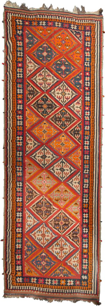 Antique Qashqai Kelim Runner 585x158cm