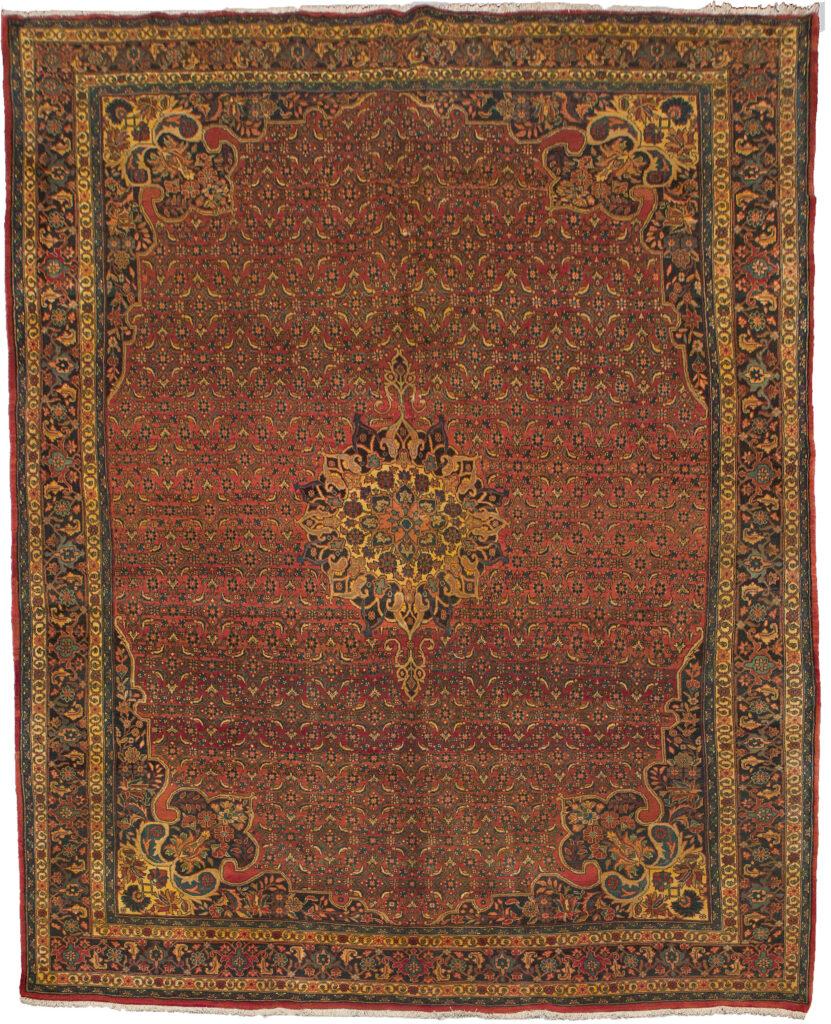 Vintage Bijar Carpet 352x255cm