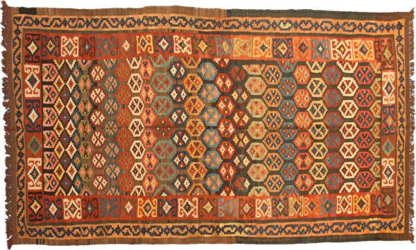 Antique Bakhtiar Kelim Carpet 323x133cm