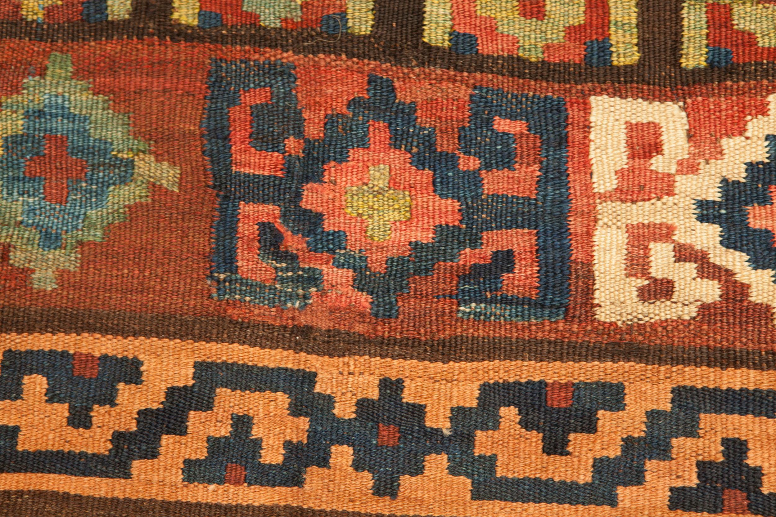 Antique Bijar Kelim Carpet 323x133cm