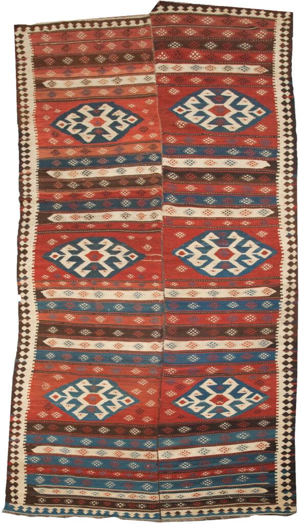 Vintage Azarbijan Kelim Carpet 440x175cm