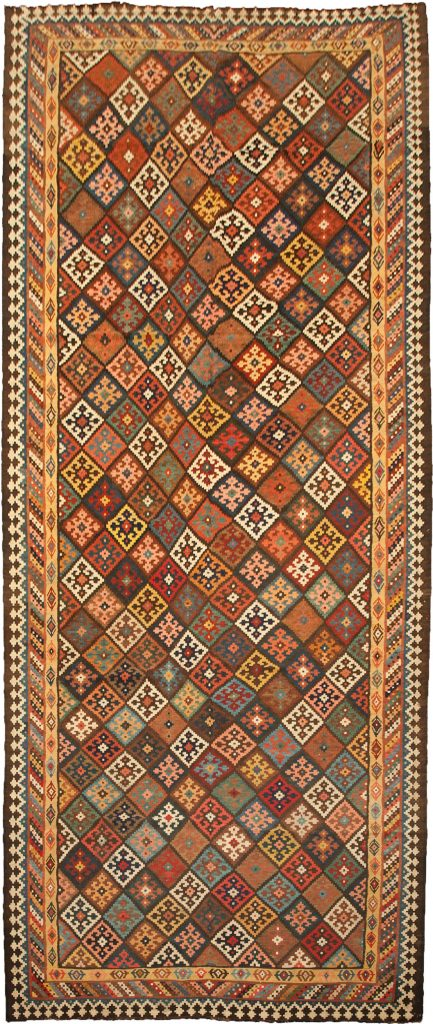 Antique Bakhtiar Kilim Carpet 528x215cm