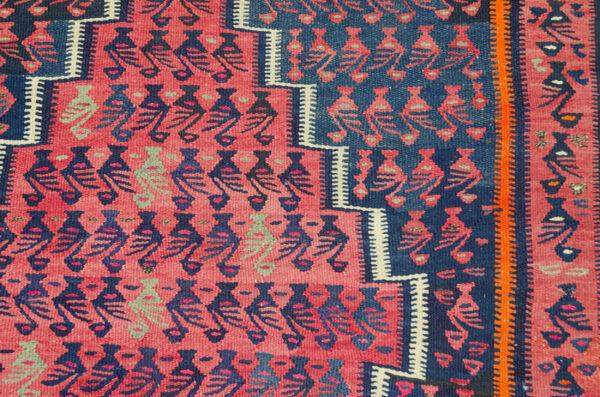 Vintage Harsin Kilim Carpet 288x155cm