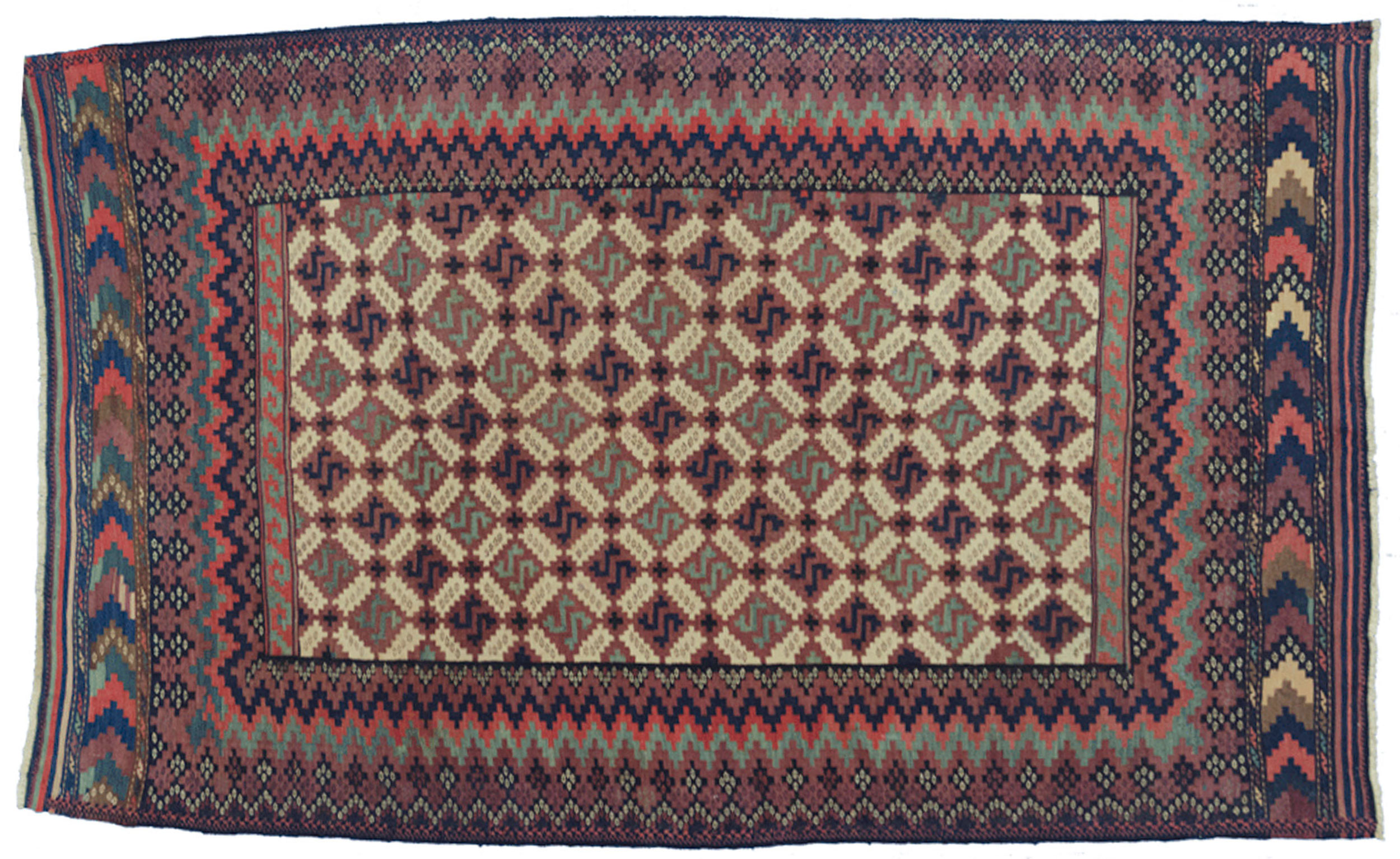Antique Afshar Kilim Rug 234x147cm