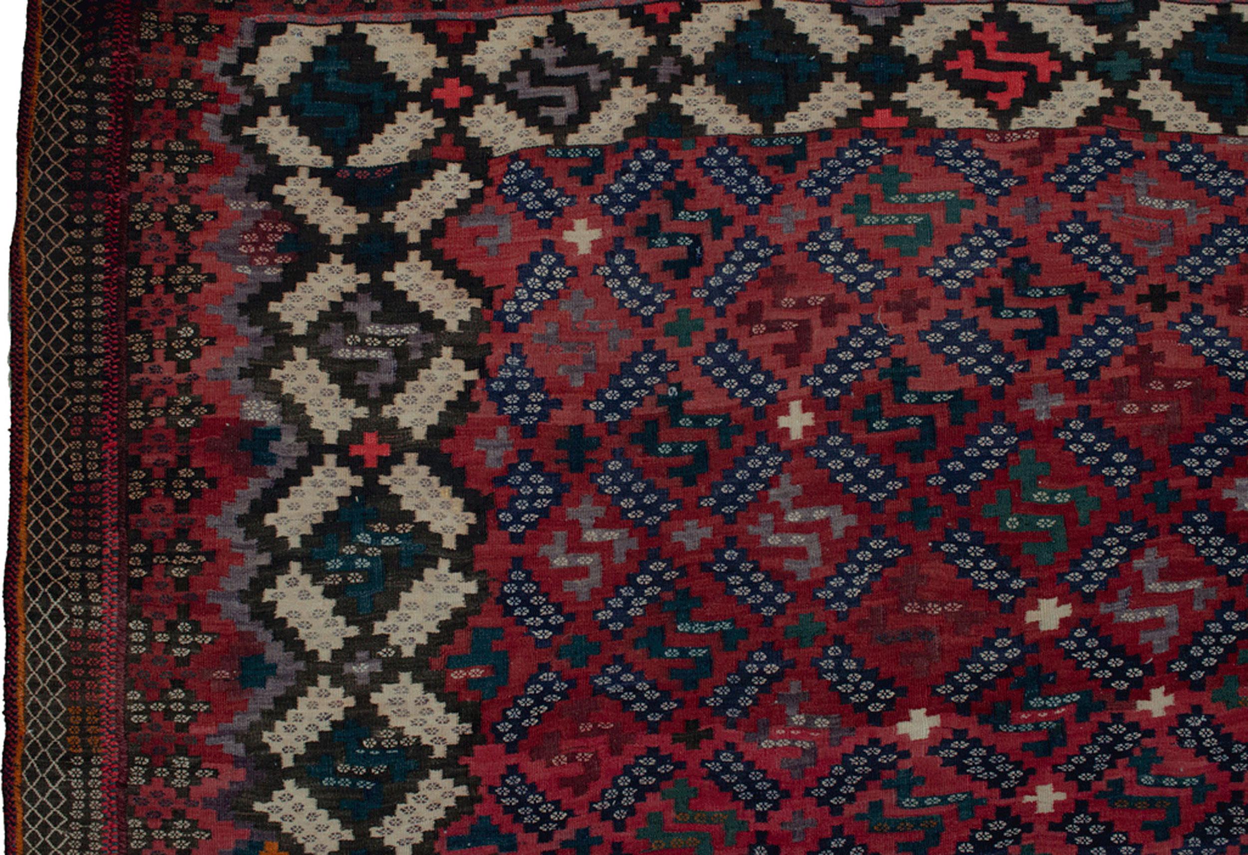 Vintage Afshar Kilim 358x237cm