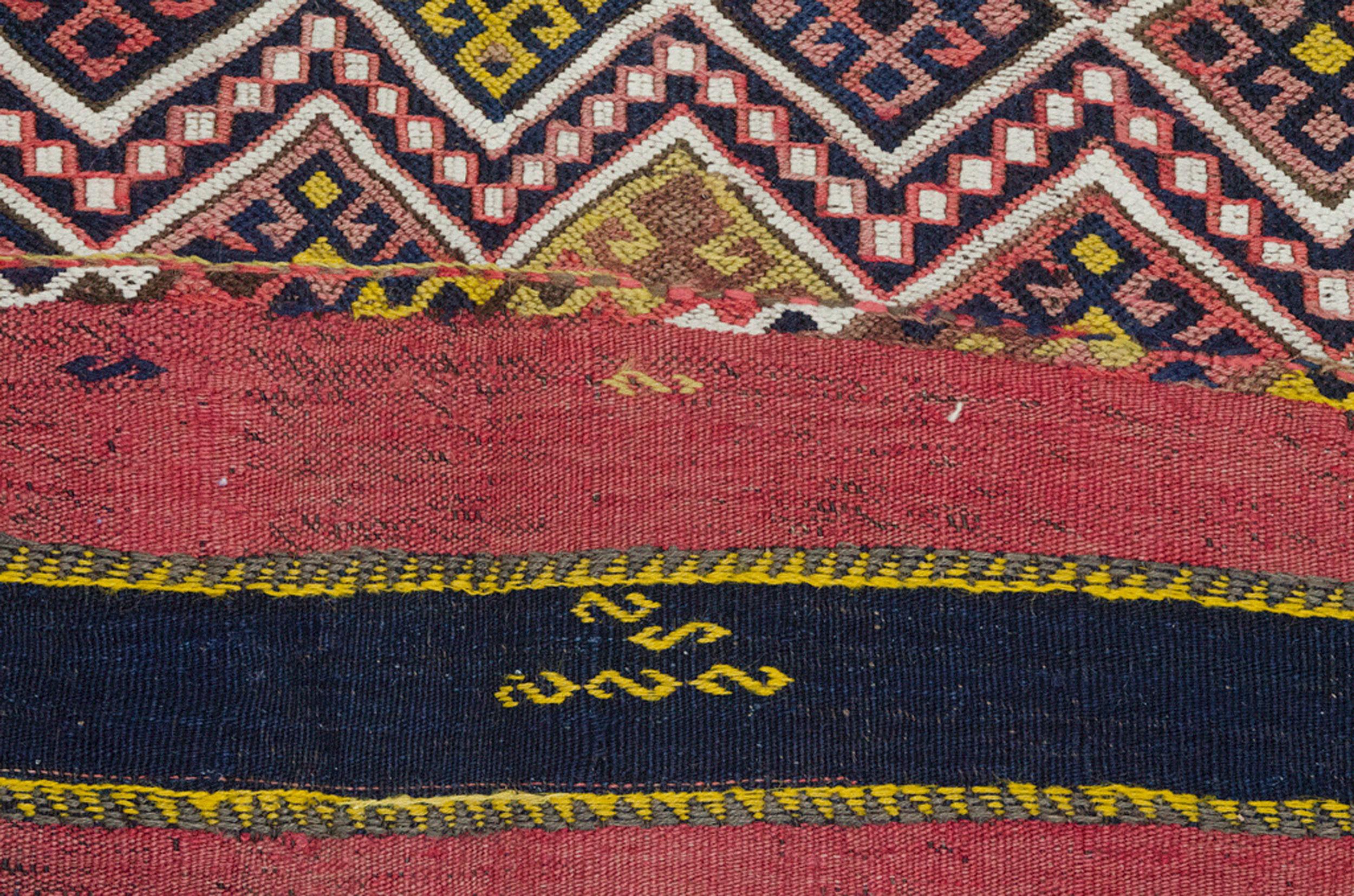 Antique Kordi Kilim Carpet 305x139cm