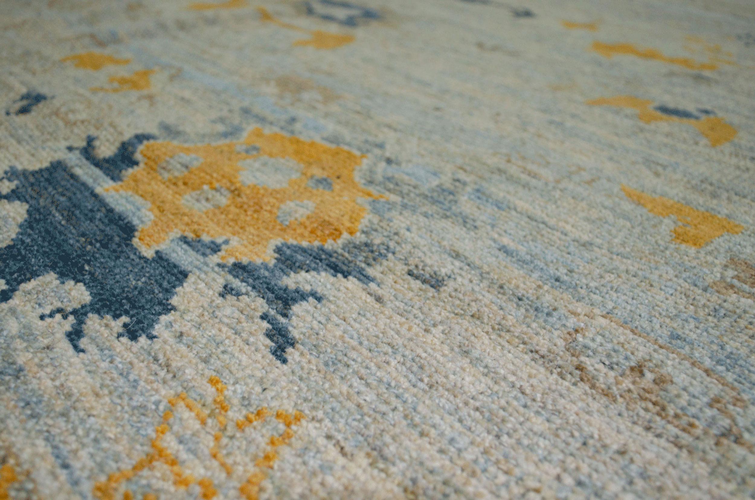 Antique Finished Ushak Carpet 305x240cm
