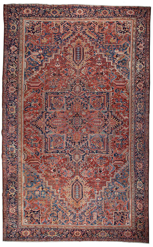 Antique Heriz Carpet 435x333cm