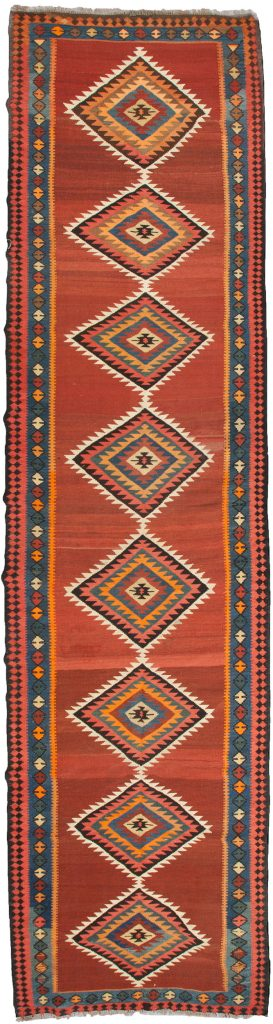 Antique Azarbijan Kelim Runner 492x115cm