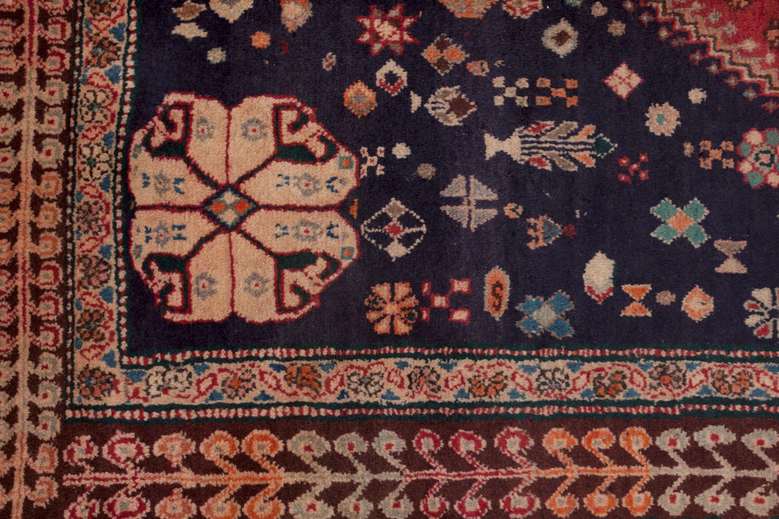 Vintage Qashqai Carpet 282x195cm