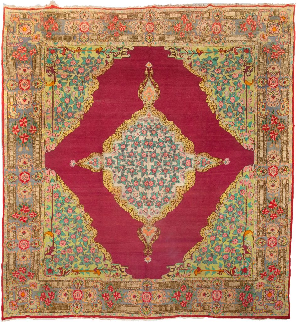 Antique Yazd Carpet 408x364cm