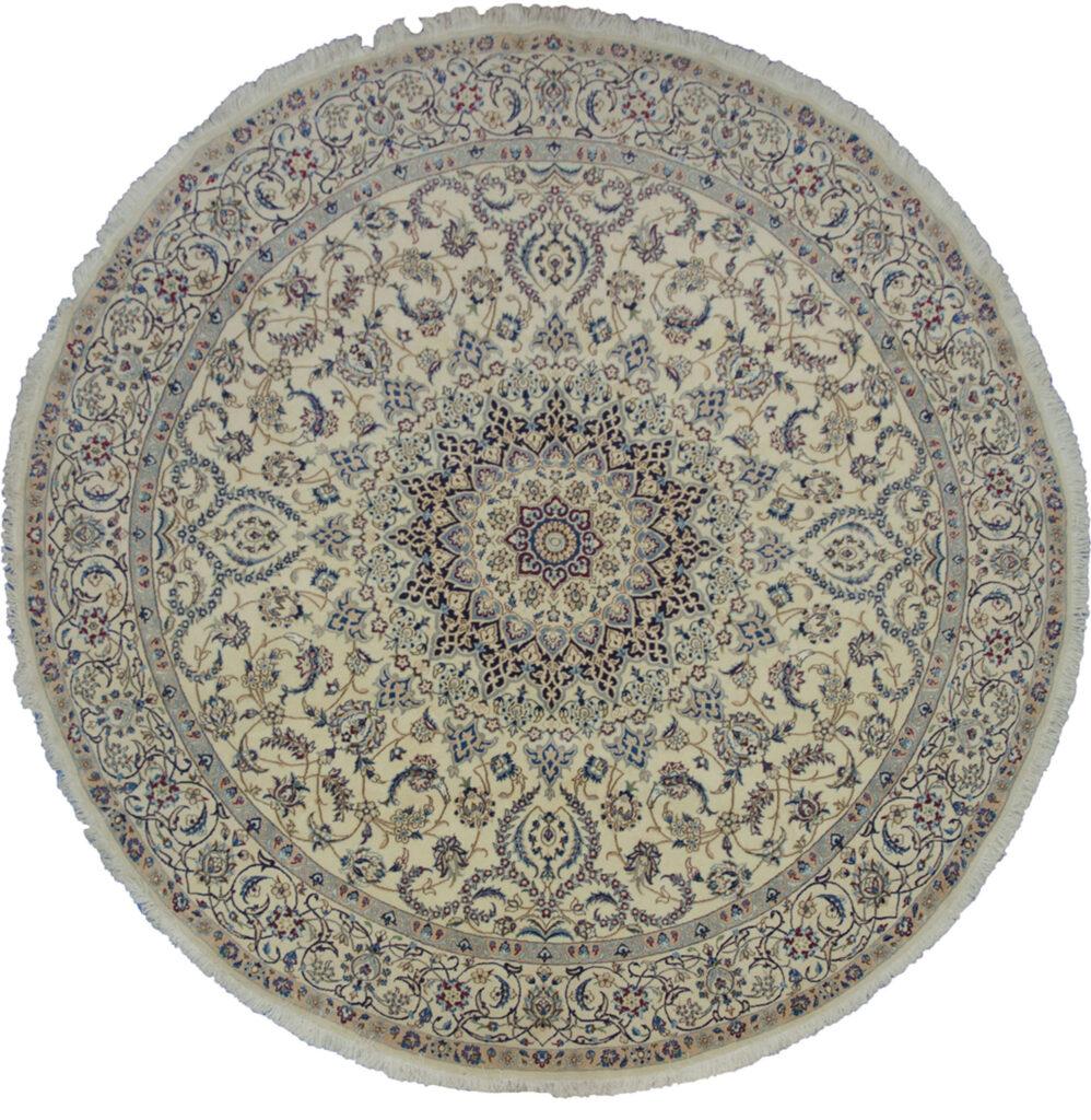 Vintage Round Nain Rug 246x246cm