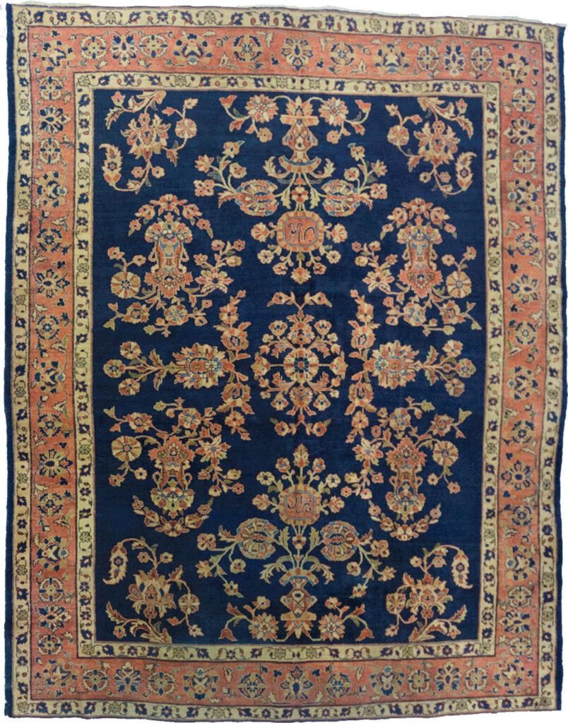 Antique Saruk Carpet 297x250cm