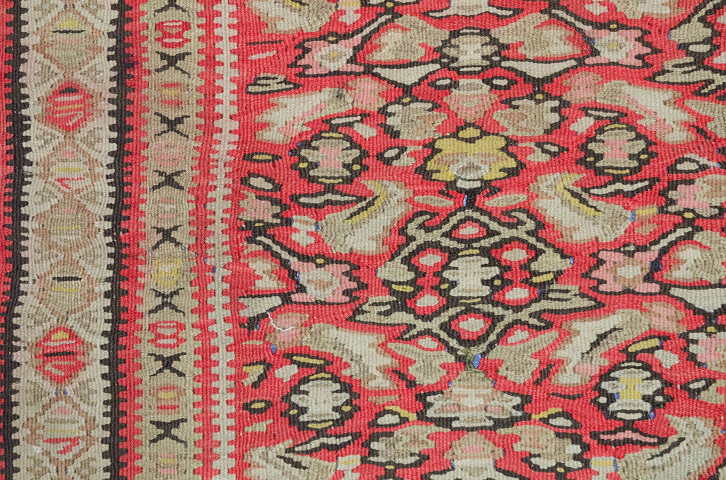 Antique Senneh Kilim Rug 202x117cm