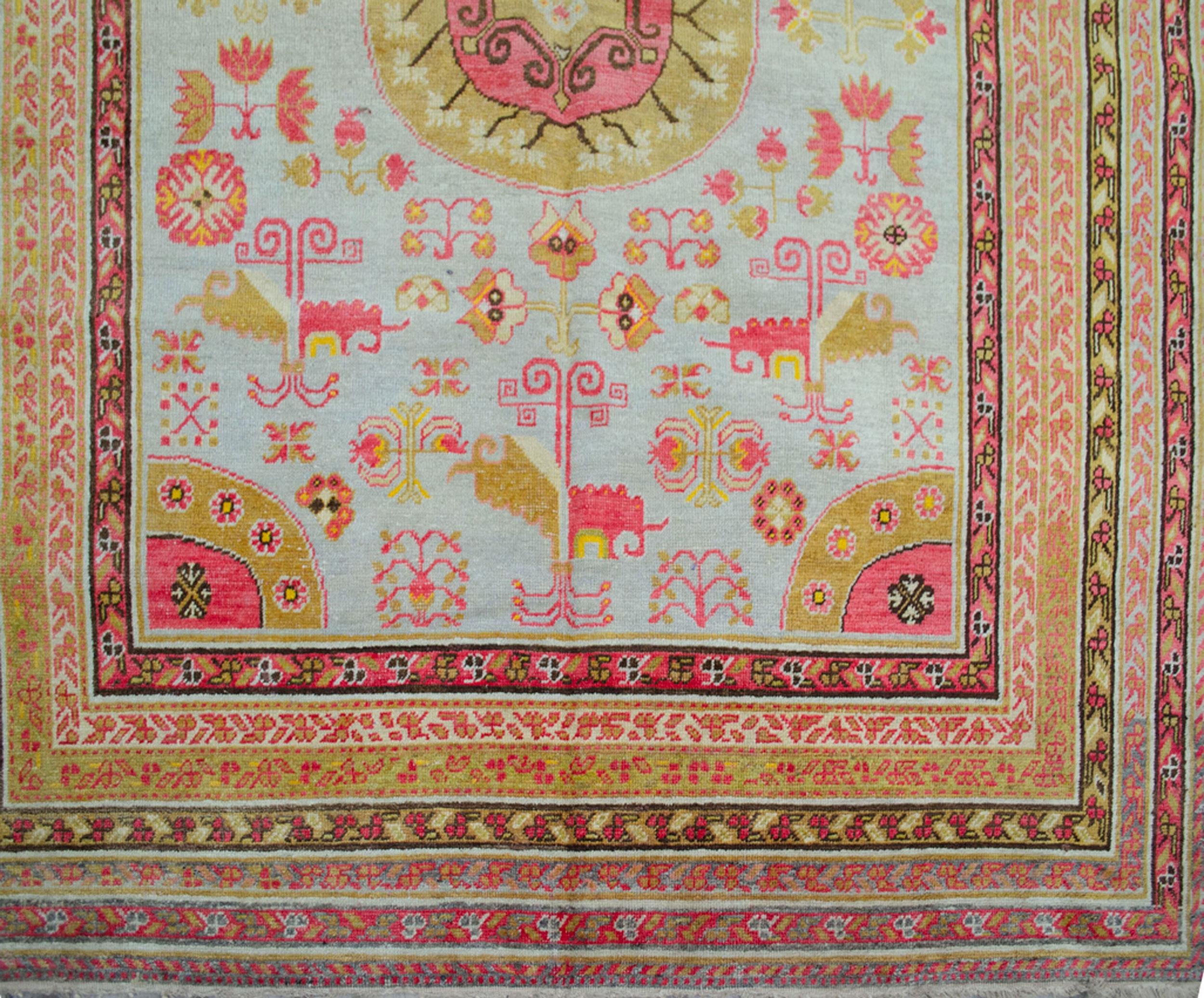 Antique Khotan Carpet 344x172cm