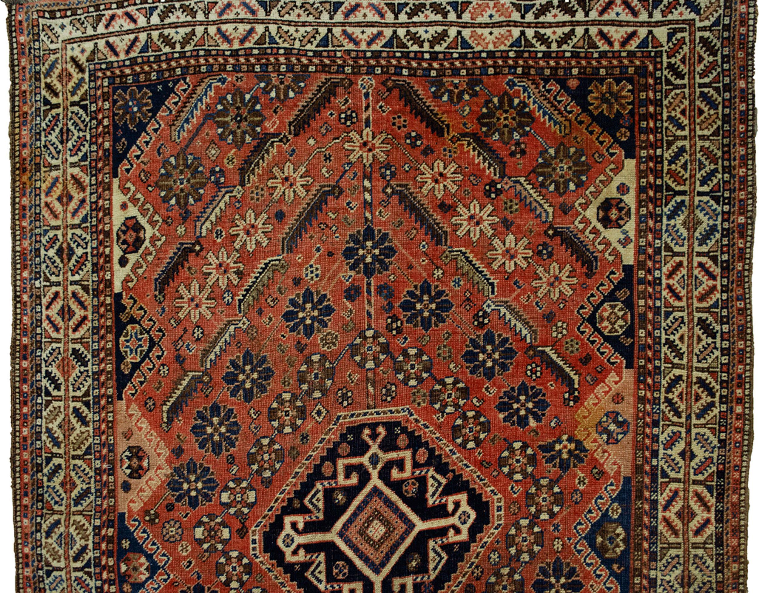 Antique Qashqai Rug 143x97cm