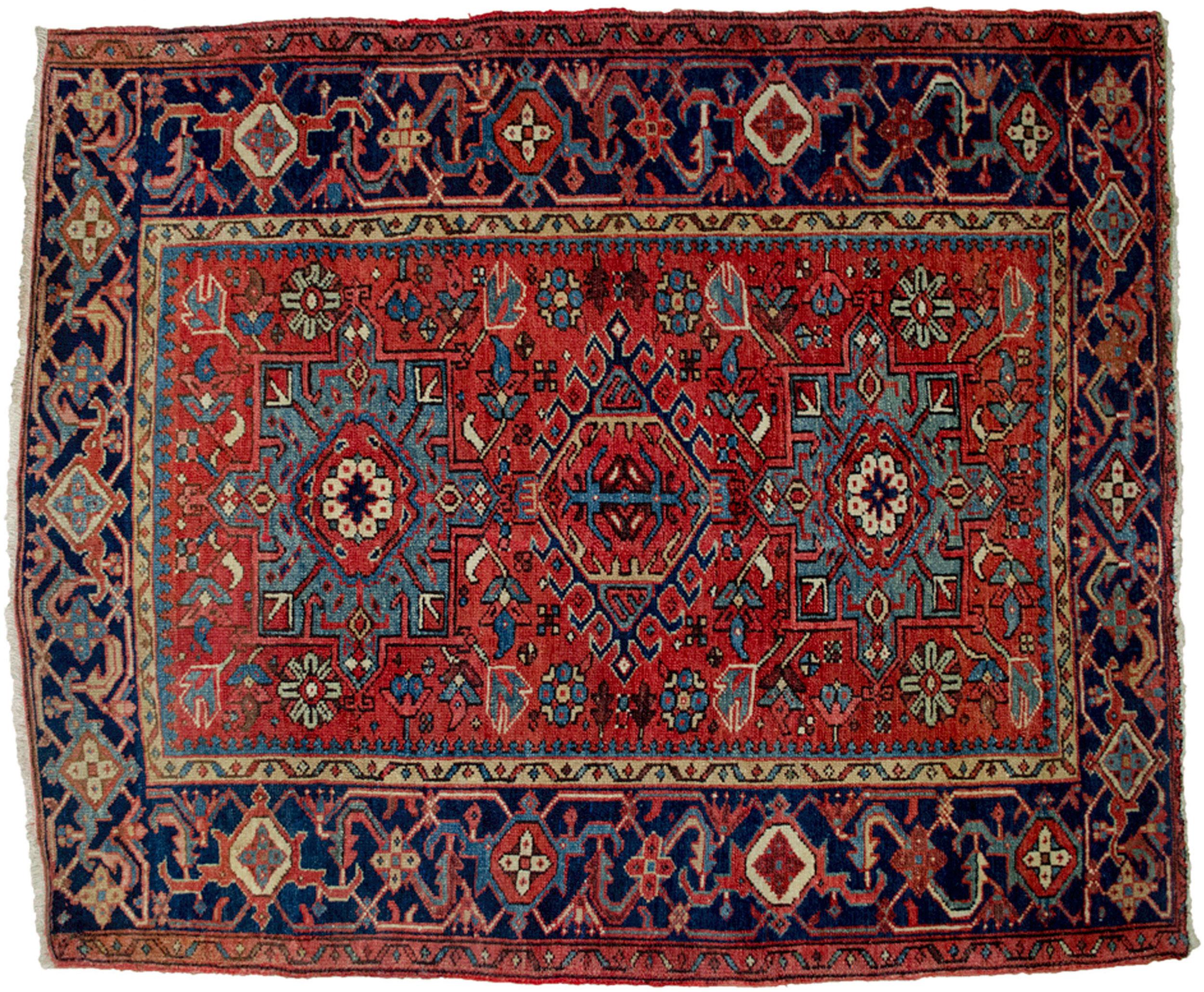 Antique Karaja Rug 134x102cm