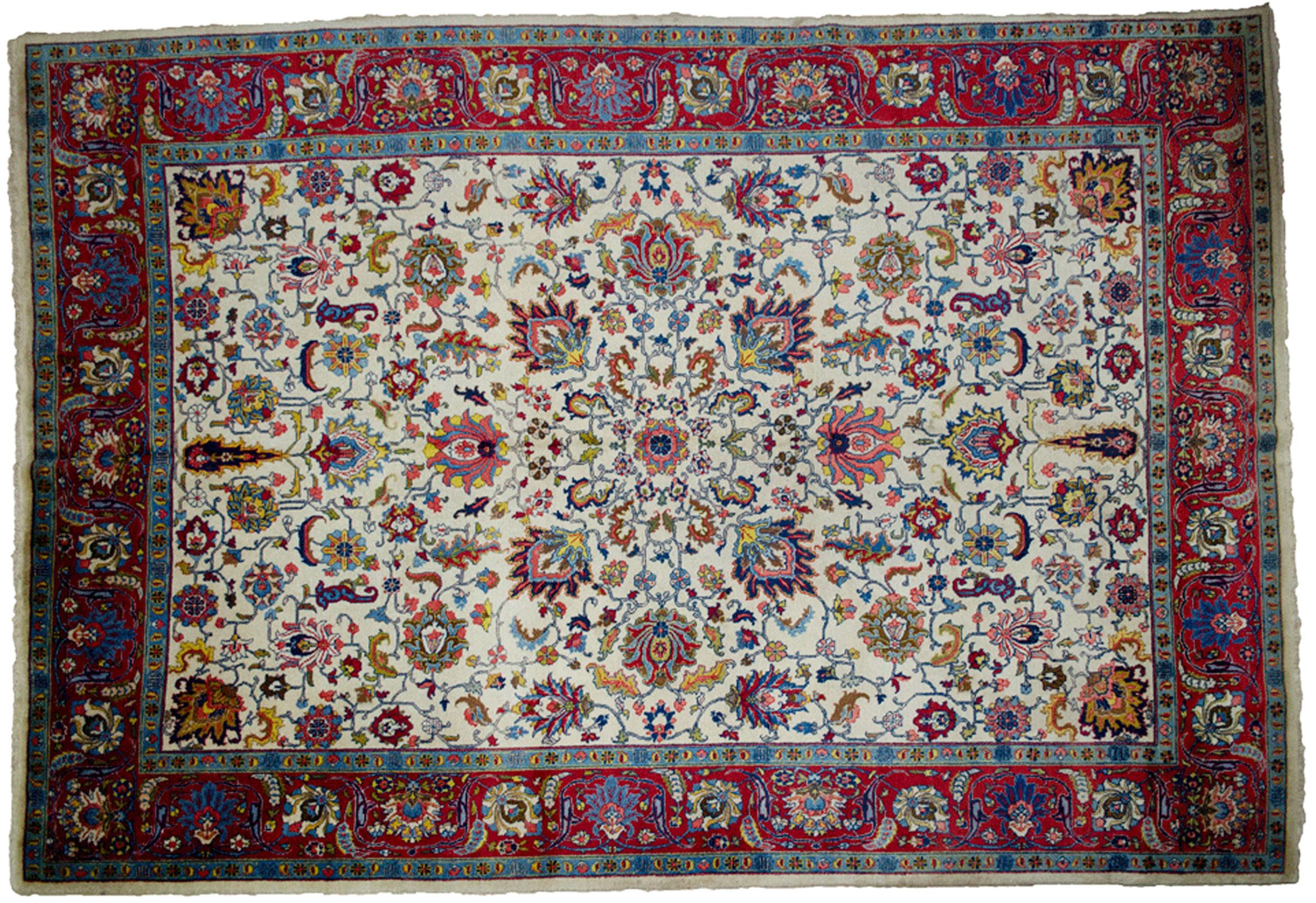 Antique Tabriz Carpet 396x275cm