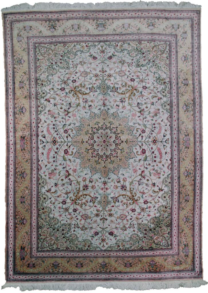Vintage Silk Qum Carpet 282x205cm