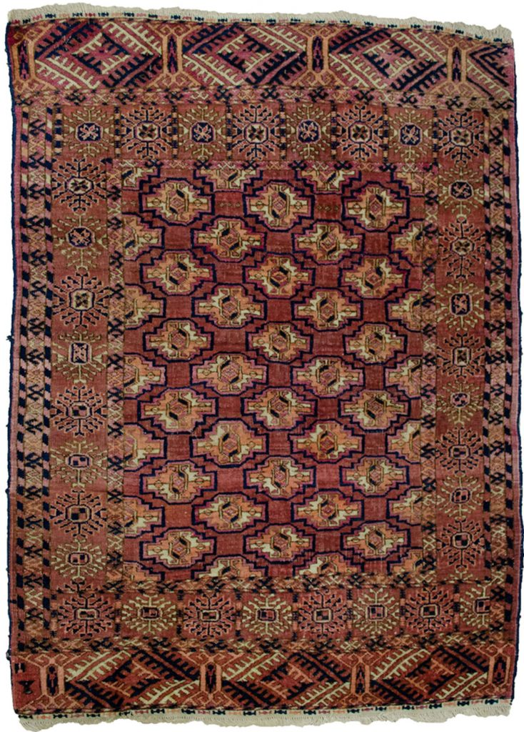 Antique Turkman Rug 131x96cm