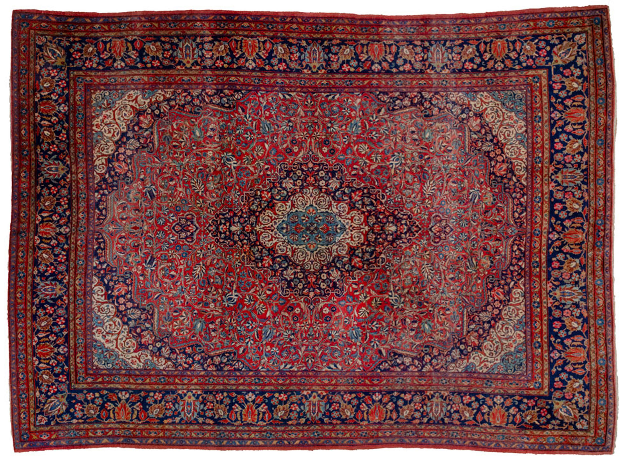 Antique Kashan Carpet 345x240cm