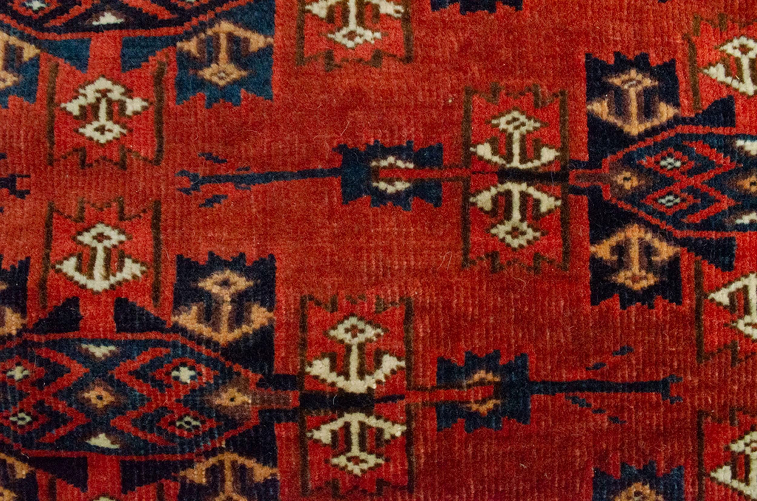 Antique Turkmen Yamoud Carpet 293x202cm