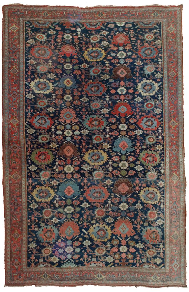 Antique Bijar Carpet 358x230cm