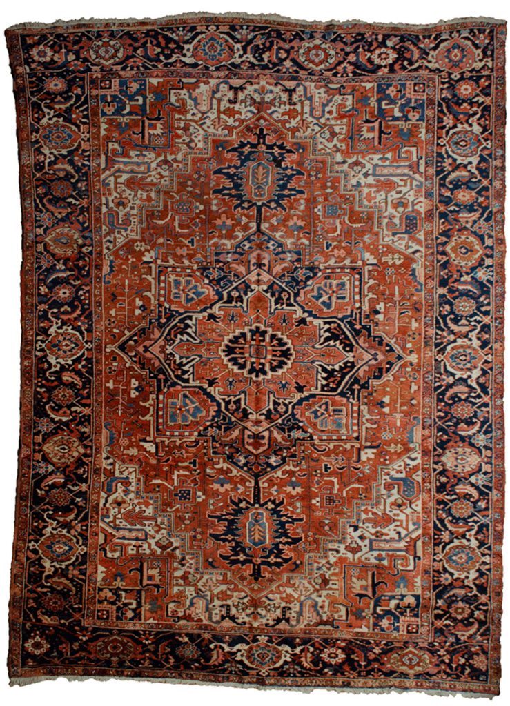 Antique Heriz Carpet 377x267cm