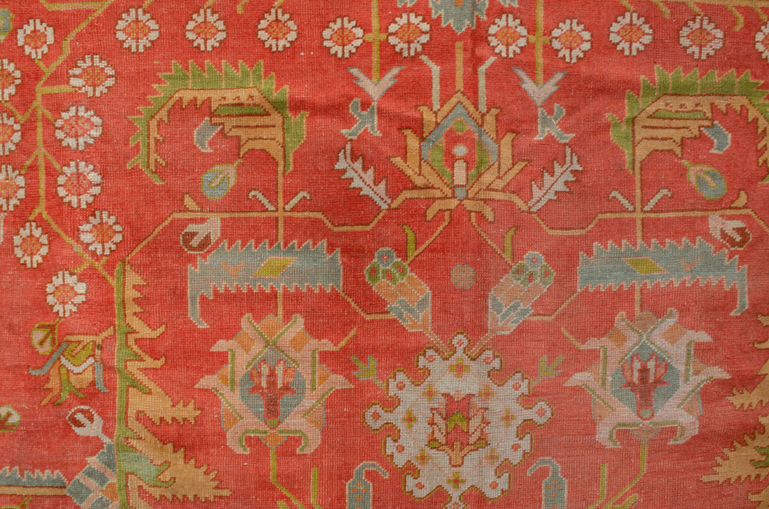 Antique Ushak Carpet 466x427cm