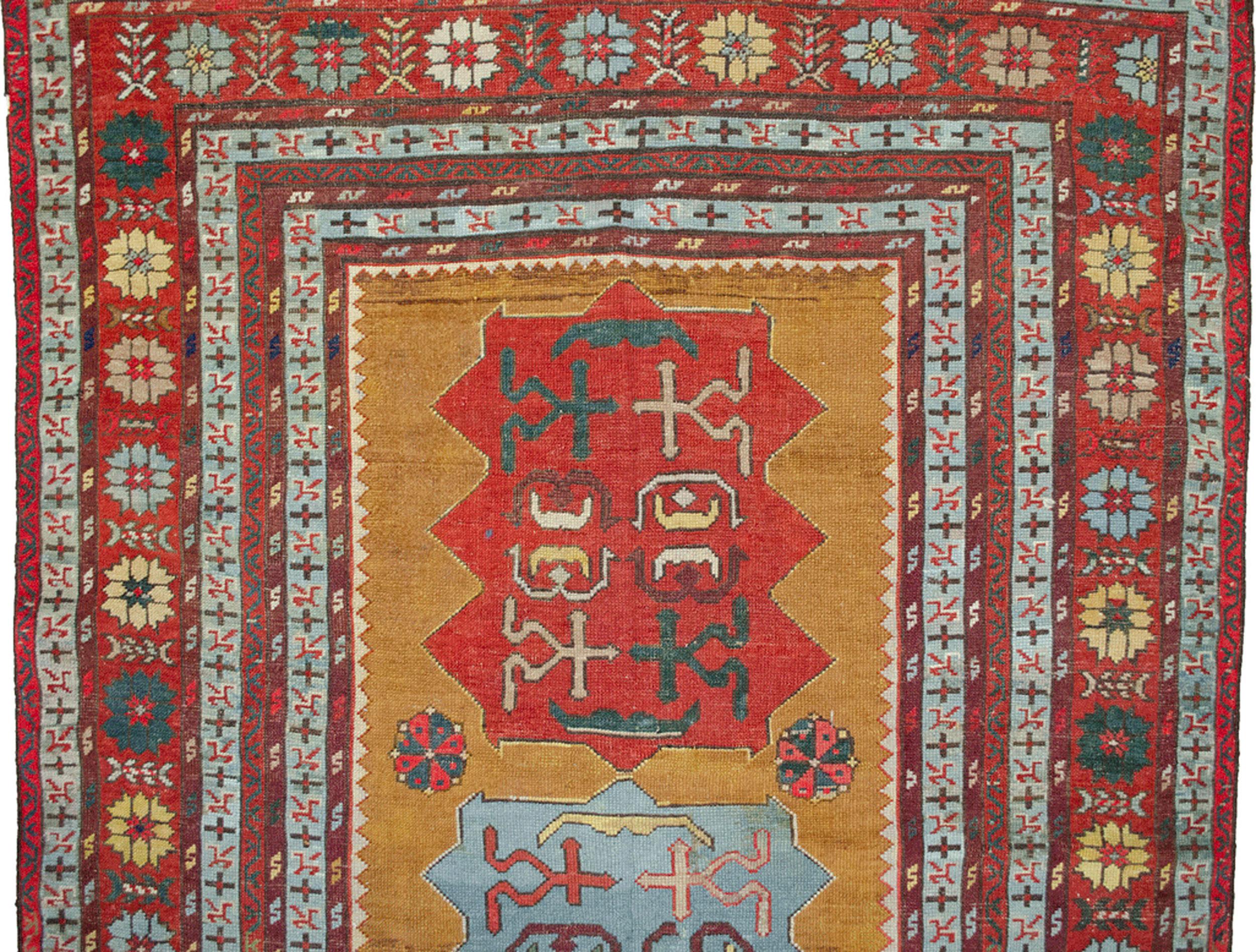 Antique Kazak Rug 205x121cm