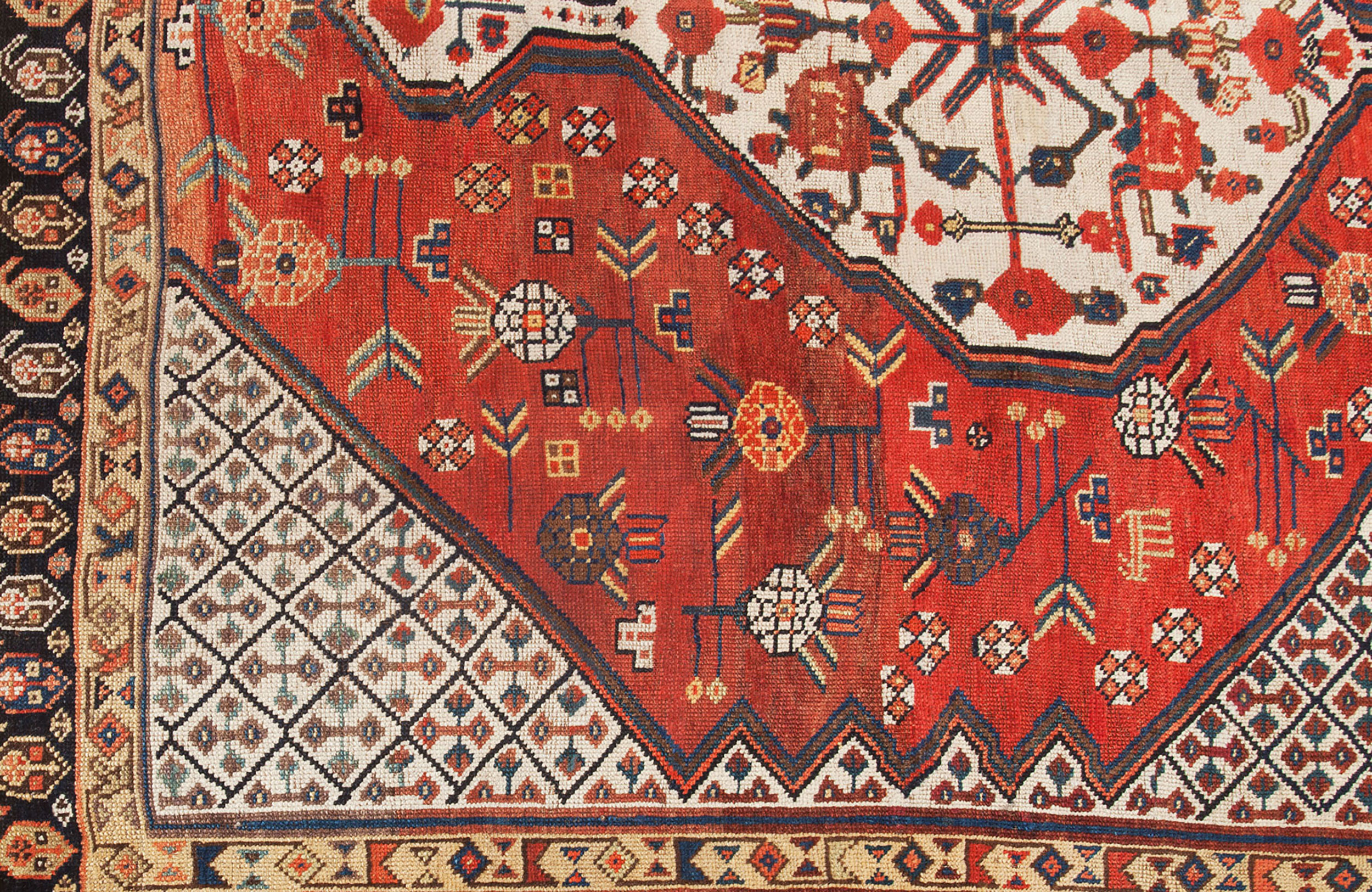Antique Qashqai Rug 225x153cm